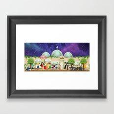 Silver Millennium Retro Cafe Framed Art Print