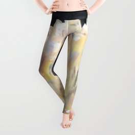 Angel Aura Crystals Clear Quartz Cluster Unicorn Fantasy Castle Leggings
