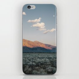 Sierra Mountains with Harvest Moon iPhone Skin