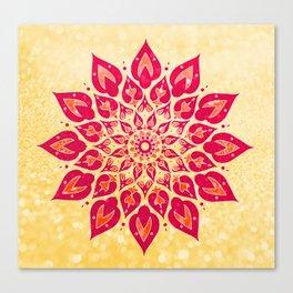 Mandala Savasana Canvas Print