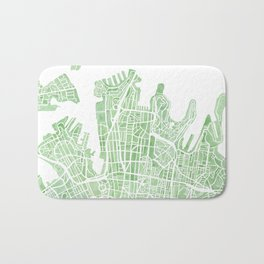 Sydney Australia watercolor city map Bath Mat