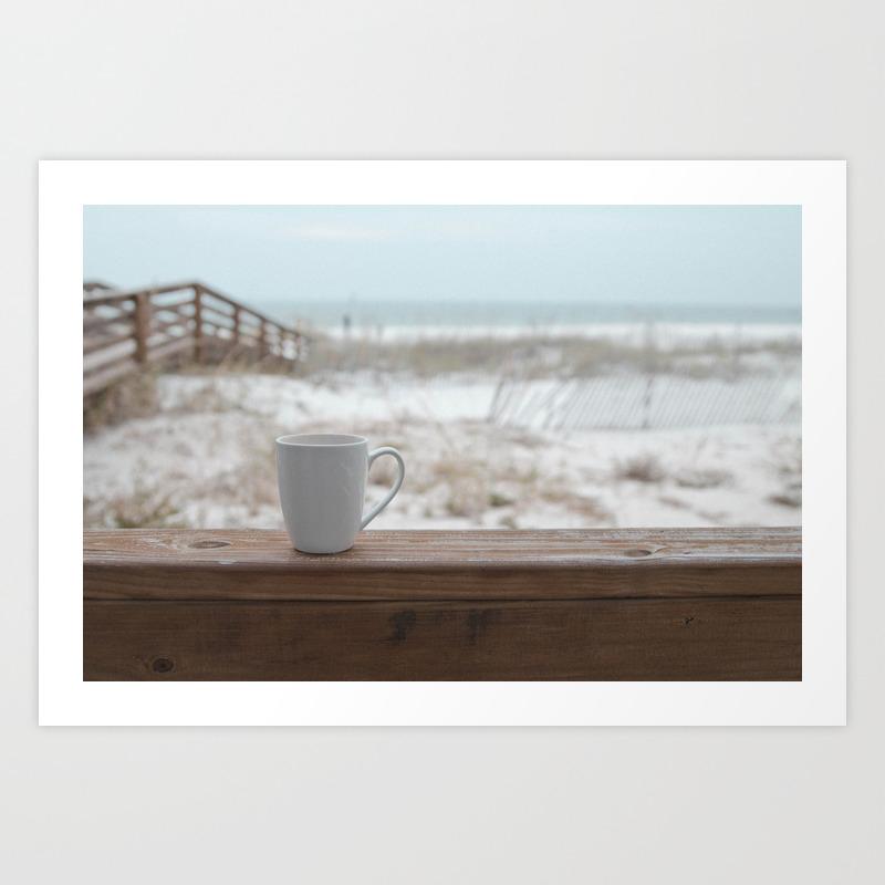 Cuppa At The Beach Art Print by Jojo26 PRN9074305