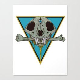 Skull Breaking Bones.3 Canvas Print