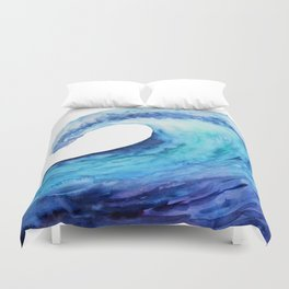 Ocean tsunami wave Duvet Cover