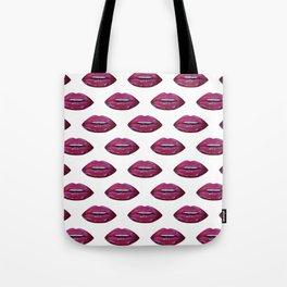 Lip pattern lip sync art print pattern Tote Bag