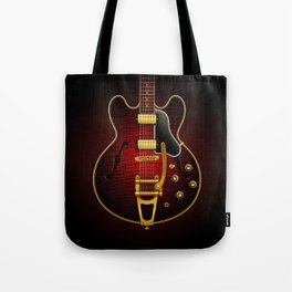 Electric Guitar ES 335 Flamed Maple Tote Bag