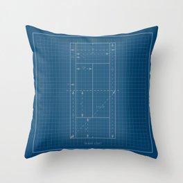 Tennis Court Throw Pillow