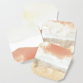 Terra Cotta Hills Abstract Landsape Coaster