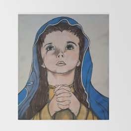 The Holy Child Mary Throw Blanket