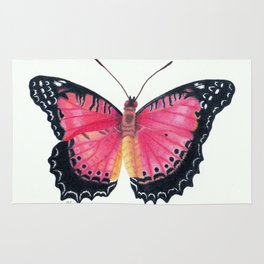 Red Lacewing Butterfly Rug