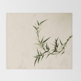 Oriental bamboo 006 Throw Blanket