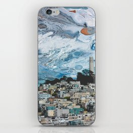 Starry Coit Tower iPhone Skin