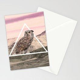 Desert Owl Stationery Cards