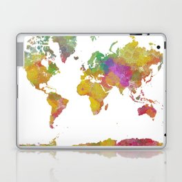 Map of the World - Watercolor 5 Laptop & iPad Skin