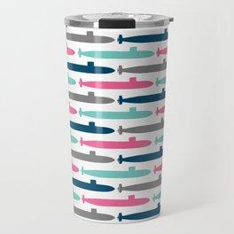 Colorful Submarine Squadron Travel Mug