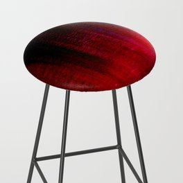 Red and Black Abstract Bar Stool