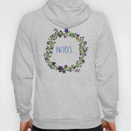 Nooo - floral wreath Hoody