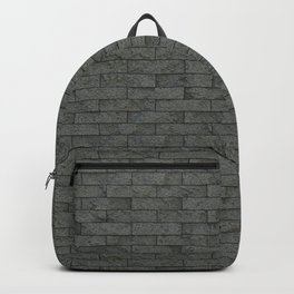 Grey Stone Bricks Wall Texture Backpack