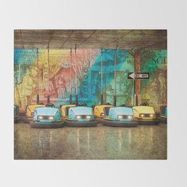 Bumper Cars Throw Blanket