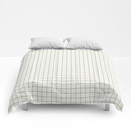 Black Grid on White Comforters