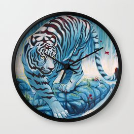 Tiger by the Waterfall Wall Clock