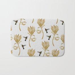 Hummingbird & Flower I Bath Mat