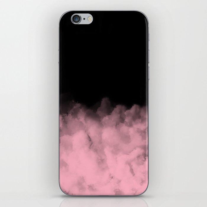 Black with Pink Smoke Minimal iPhone Skin