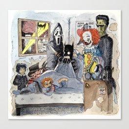 Bat-insomnie / Bat-insomnia Canvas Print