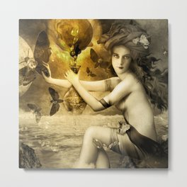 The Blessed Temperance, Gold Metal Print