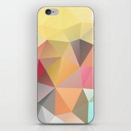 Polygon print bright colors iPhone Skin