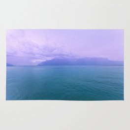 Wild Nature with Lake and Mountains Rug