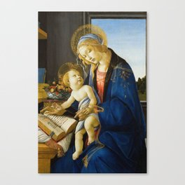 Botticelli  -  The Virgin And Child The Madonna Of The Book Canvas Print