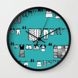 Laundry Doodle Wall Clock