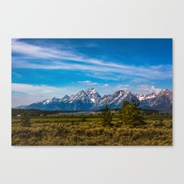 Teton Mountains Canvas Print