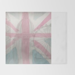 London Big Ben Parliament Water Color Painting Throw Blanket
