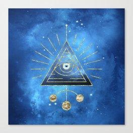 Magic Eye Blue Universe Canvas Print