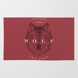 Choose the Wolf You Feed Rug