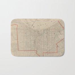 Vintage Map of Louisville KY (1880) Bath Mat