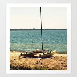 Cross-Processed Catamaran Art Print