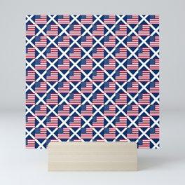 Mix of flag: usa and scotland Mini Art Print