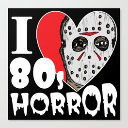 I Heart 80s Horror Canvas Print