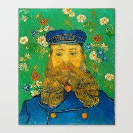 Vincent van Gogh - Portrait of Postman Canvas Print