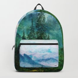 Spring Mountainscape Backpack