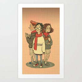 Ron, Harry and Hermione Art Print