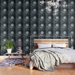 Silver Steampunk Clockwork Wallpaper