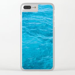 Light Blue Cozumel Clear iPhone Case