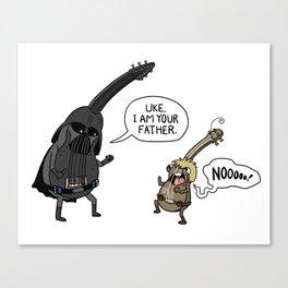 Uke, I am your father. Canvas Print
