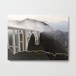 Line Series - Bixby Bridge, Big Sur, Califonria Metal Print