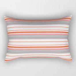 Orange Butterfly Coordinating Stripe Rectangular Pillow