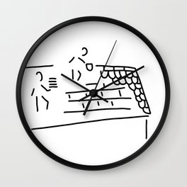 roofer carpenter brick Wall Clock